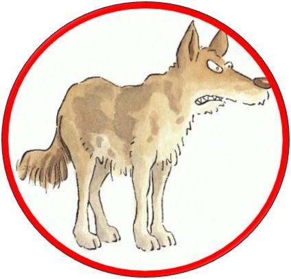 Abbildung eines Wolfes als Sinnbild für den inneren Kritker