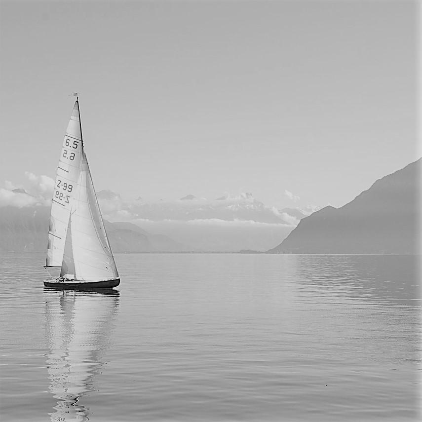 Segelboot ls Sinnbild für einen Motivationsspruch